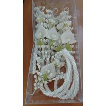 Paquete Lazo Con Flores De Migajon Y Arras Matrimoniales En