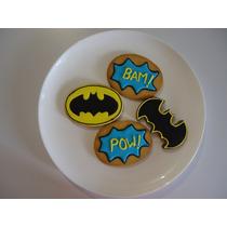 Lindas Y Deliciosas Galletas Decoradas Fiesta Niños Batman