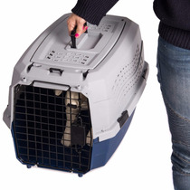 Jaula Transportadora Mascota Gato Perro Raza Pequeña Azul