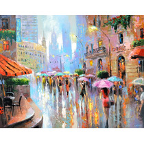Rain And City - Cuadros, Pinturas De Dmitry Spiros