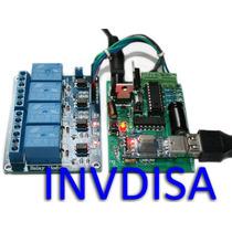 Interfaz Pc Usb, 4 Relevadores - Visualbasic, C++, Labview