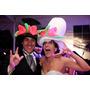 25 Sombreros De Hule Espuma Para  Fiestas Bodas Y Cotillón