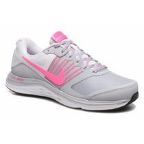 Tenis Nike Dual Fusion X Dama Gris Rosa Dama