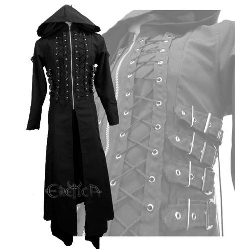 1a5a4099b579 Eretica Ropa Dark-gabardina Hebillas Costado Gorro-gotico en venta ...