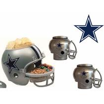 Casco Nfl Dallas Cowboys Combo Botanero Y 2cerveceros