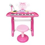 Teclado Piano Luz Micrófono Mp3 37funciones Nino Nina Regalo
