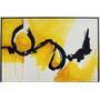 Cuadro Abstracto Decoración Yellow - Black Adorno Moderno