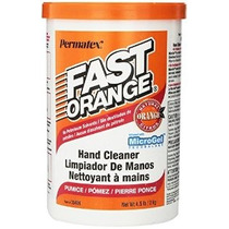 Permatex 35406 Fast Naranja Pómez Crema Mano Limpia 4,5 Libr