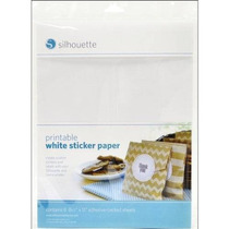Silueta De Papel Adhesivo Blanco Para Imprimir