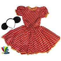 Disfraz Vestido Mimi Minnie Mouse Modelo Disney Talla 8