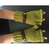 Guantes Mitones Tejidos Crochet Sin Dedos