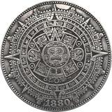 Moneda Artesana Calendario Azteca En Morgan 1880 Únicas