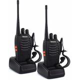 2 Radios De Comunicación Portátil  2 Vías + Manos Libres