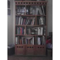 Librero De Madera 5 Niveles (inferior Con 3 Puertas) Usado