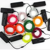 Wire Hilo 3m Luminoso Luz Neon Dj Cable Tron Led Tira Neon