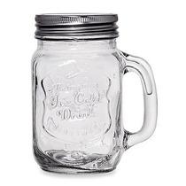 Mason Jars Con Asa (vaso Tipo Mason Jars, Estilo Vintage)