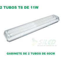 Gabinete 2 Tubos Led T8 60cm Vapor, Polvo Y Agua. ¡oferta!