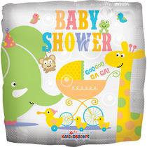 5 Globos Metálicos De Baby Shower Con Animalitos 18 Pulgadas