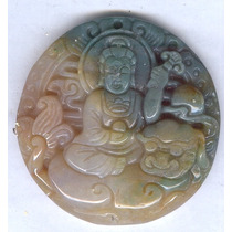 Dije Buda /kwan Yin Labrado En Agata Envio Gratis