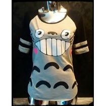 Playera Vestido Bluson Crop Top Totoro Anime Caricatura Moda