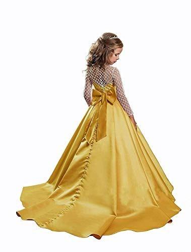 7726a9e97 Vestido Elegante Niña Boda Fiesta Graduacion Dorado en venta en ...