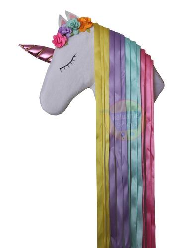 Unicornio Porta Moños Organizador Portamoños En Venta En