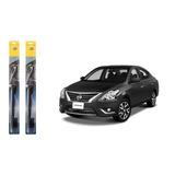 Pluma Limpiador Nissan Versa 12-16 Juego 2.pz Hella