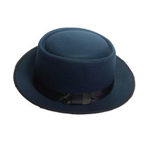 Sombrero Verde Azul Ala Corta Vintage Hipster Funky Derby