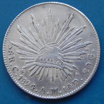 Moneda 8 Reales Culiacan 1894 A M Condicion !!