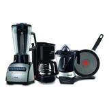 Combo T-fal Licuadora 14v  + Cafetera 600ml + Exprimidor 1 Litro 40w + Sartén Thermo Spot Tefal ¡oferta!