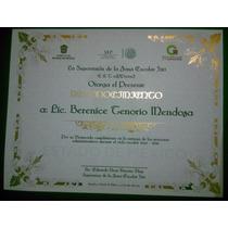 Diplomas Reconocimientos Metalizados, Impresión Metálica $25