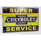 Super Service Chevrolet Vintage Cuadro Cartel