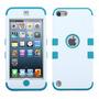 Funda Protector Mixto Apple Ipod Touch 5g Blanco / Aqua Trip