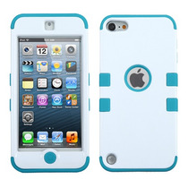 Funda Protector Mixto Apple Ipod Touch 5g Blanco / Aqua Trip