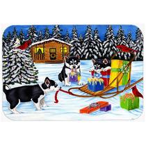 Ruido De Fondo De Navidad Husky Siberiano De Cocina O Baño