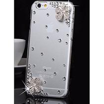 Funda Transparente Con Cristales Para Iphone 6 Y 6 Plus