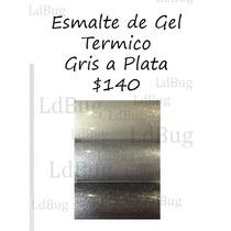 Esmalte De Gel Termico De Gris A Plata 15 Ml Cambian Color