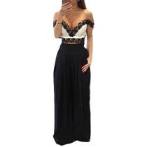 Pantalón De Vestir Para Mujer Holgado Negro Moderno En Venta
