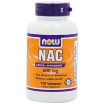 Now Foods Nac-acetil Cisteína 600 Mg 100 Vcaps