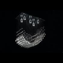 Candil Moderno Minimalista Cristal Cortado 5 Luces Led Gl