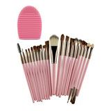Set De Brochas Maquillaje Profesional De Ojos Organizador 20 Brochas + 1 Regalo Limpia Brochas Envio Gratis0