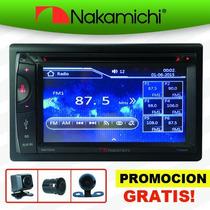 Autoestereo Táctil Dvd Cd Bluetooth Usb + Camara De Revera