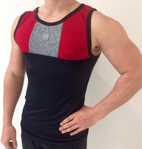 94bc858c7d902 Lote De 3 Camisetas De Lycra Para Gym Unitalla
