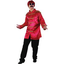 Sargento Pimienta Traje - Mens Red 60s 70s Sargento Jacket