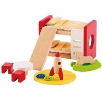Hape - Happy Family Doll Muebles De La Casa - Habitación De