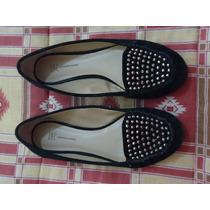 Zapatos Importados Flats Inc Gamuza C/estoperoles 4 Mx Dama