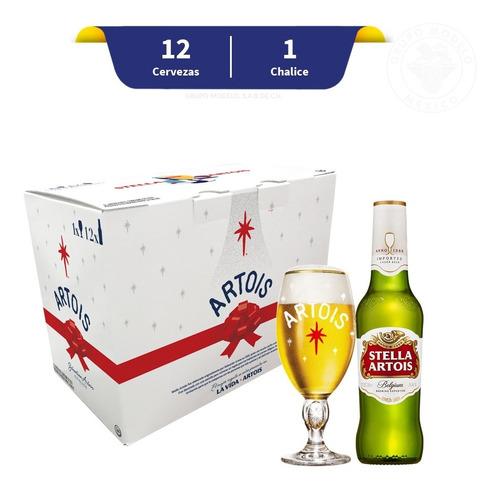 Pack Cerveza Stella Artois Holidays 12 U 330 Ml + 1 Chalice