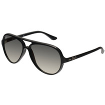 Lentes Ray Ban Rb 4125 5000 Cats Black Aviator Italianos