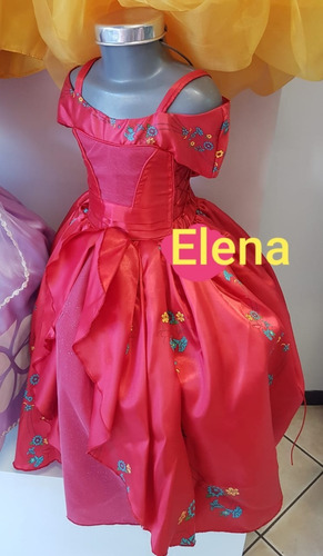 Vestido O Disfraz Elena De Avalor Corona De Pedreria Envio