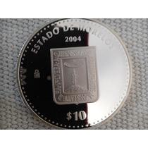 Moneda Escasa De Estados Morelos Onza Plata 100 Pesos